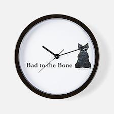 Scottie Bad to the Bone Wall Clock
