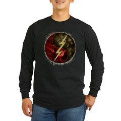 Lightning, Smoke & Flames! Long Sleeve Dark T