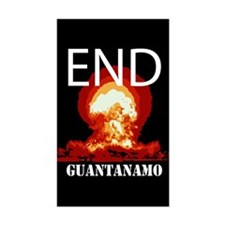 End Guantanamo Rectangle Decal