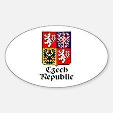 Czech Rep: Heraldic Oval Decal