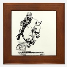 show jumping horse Framed Tile