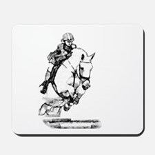 show jumping horse Mousepad