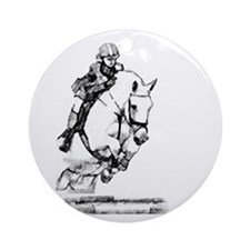 show jumping horse Ornament (Round)