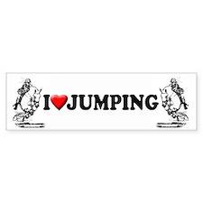 show jumping horse Bumper Bumper Sticker