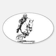 show jumping horse Oval Decal