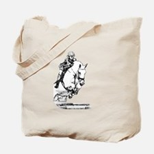 show jumping horse Tote Bag