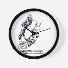 show jumping horse Wall Clock