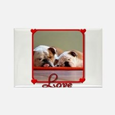 Love Bulldogs Rectangle Magnet