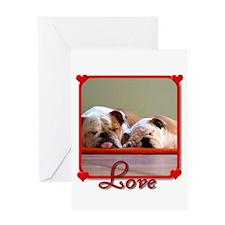 Love Bulldogs Greeting Card