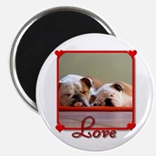 "Love Bulldogs 2.25"" Magnet (100 pack)"