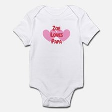 Zoe Loves Papa Infant Bodysuit