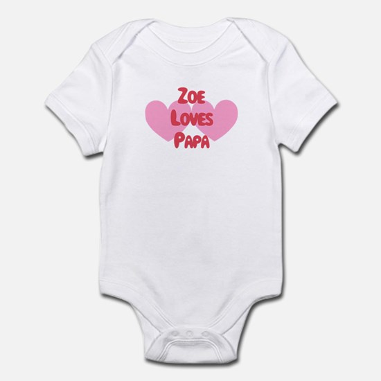 Zoe Loves Papa Infant Bodysuit