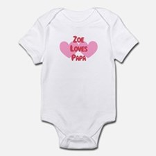 Zoe Loves Papa Onesie