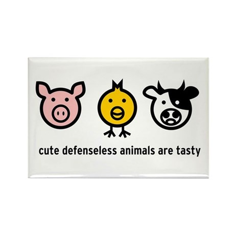 Cute Meat Rectangle Magnet
