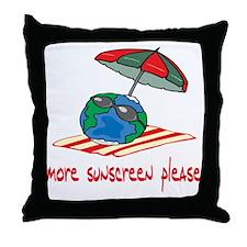 More Sunscreen Please! Throw Pillow
