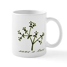 Save A Tree Green Mug