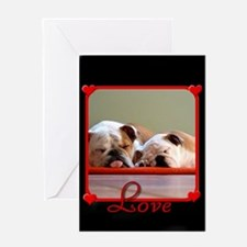 Love Bulldogs Greeting Card