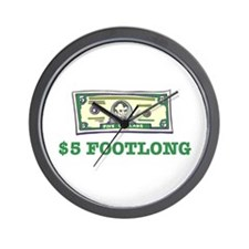 $5 Footlong Wall Clock