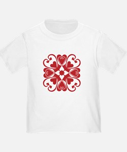 Red Hearts Hawaiian Quilt T