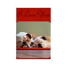 I Love You Bulldogs Rectangle Magnet