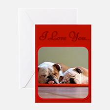 I Love You Bulldogs Greeting Card