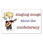 Confederacy Rectangle Sticker 10 pk)
