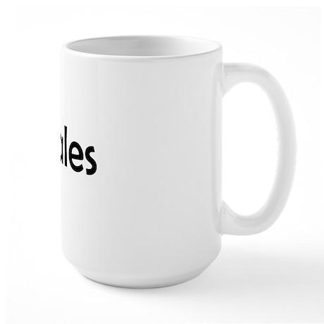 I LUV WHALES Large Mug