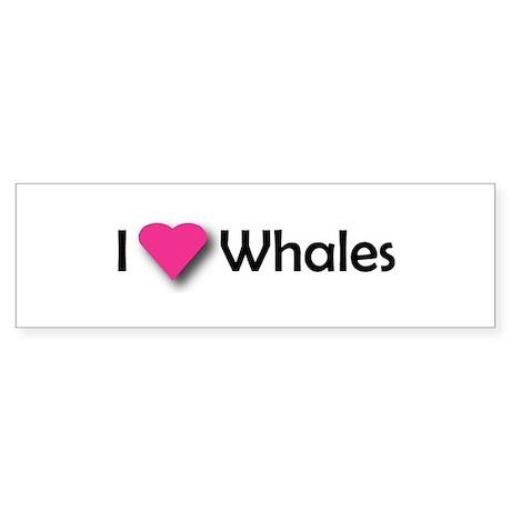 I LUV WHALES Bumper Sticker