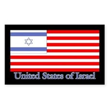United States of Israel Rectangle Decal