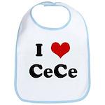 I Love CeCe Bib