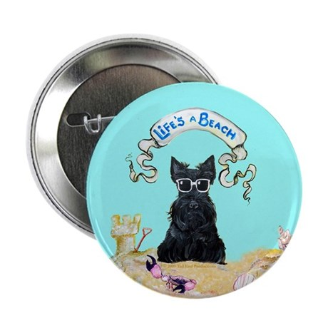 "Scottish Terrier Summer 2.25"" Button (10 pack)"