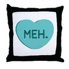 Meh Candy Heart Throw Pillow