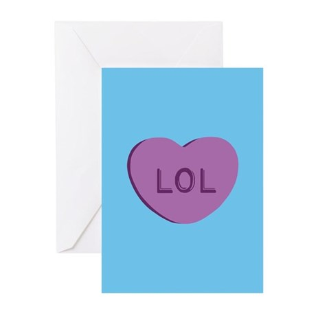 LOL Candy Heart Greeting Cards (Pk of 10)