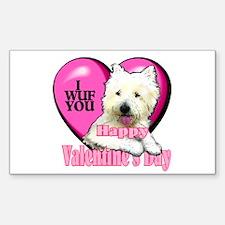 Westie Valentines Day Rectangle Sticker 10 pk)
