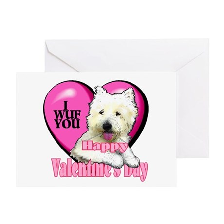 Westie Valentines Day Greeting Card