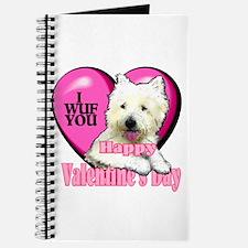 Westie Valentines Day Journal
