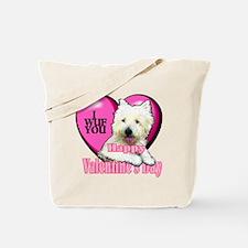 Westie Valentines Day Tote Bag