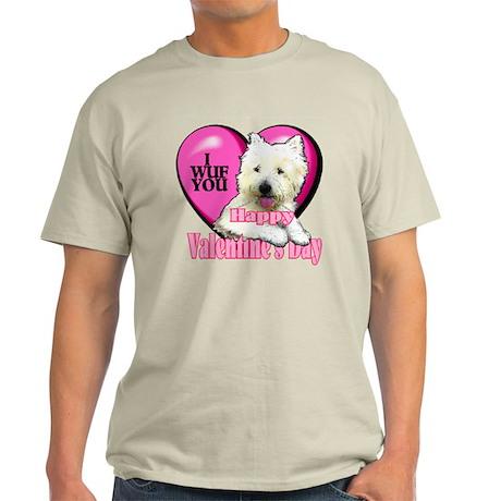 Westie Valentines Day Light T-Shirt