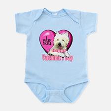Westie Valentines Day Infant Bodysuit