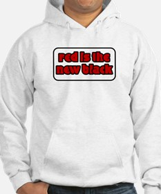 Red is the New Black Welsh Rugby Shirt Hoodie