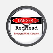 Danger! Red Head! Wall Clock