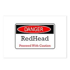 Danger! Red Head! Postcards (Package of 8)