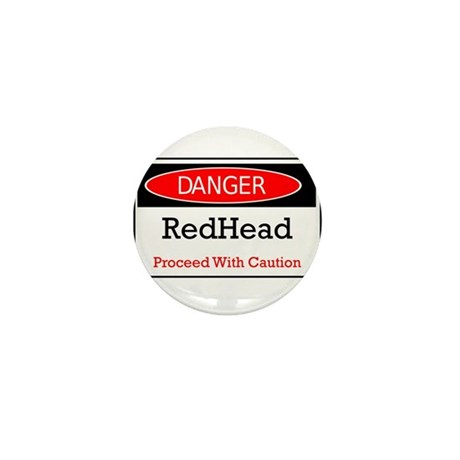 Danger! Red Head! Mini Button (100 pack)