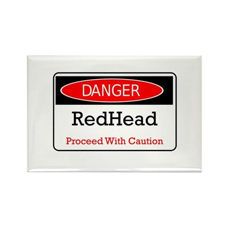 Danger! Red Head! Rectangle Magnet