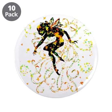 "Fall Fairy 3.5"" Button (10 pack)"