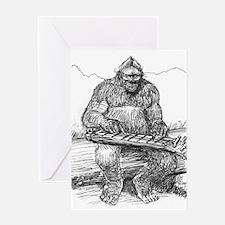 Funny Bigfoot Greeting Card