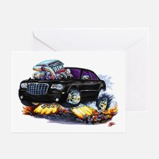 Chrysler 300 Black Car Greeting Cards (Pk of 10)