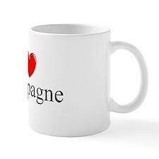 """""""I Love (Heart) Champagne"""" Mug"""