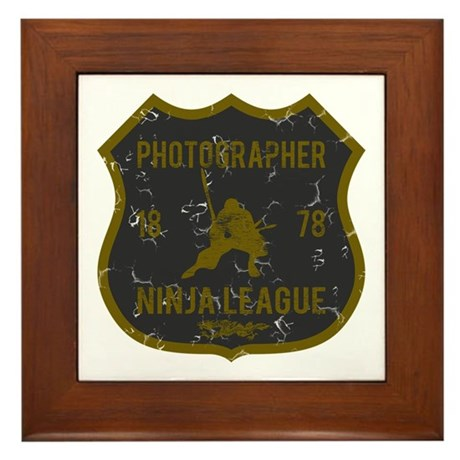 Photographer Ninja League Framed Tile