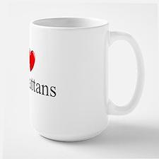"""""""I Love (Heart) Manhattans"""" Large Mug"""